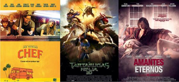Estreias da semana (14/08): As Tartarugas Ninja, Chef, Não Pare na Pista & Amantes Eternos