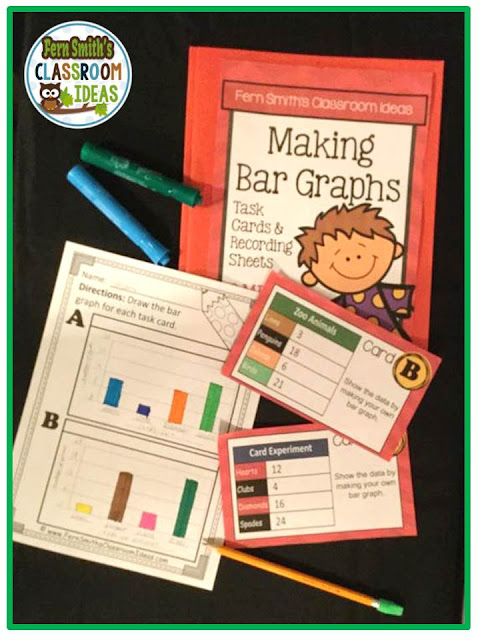 Fern Smith's Classroom Ideas Making Bar Graphs Task Cards at TeachersPayTeachers.