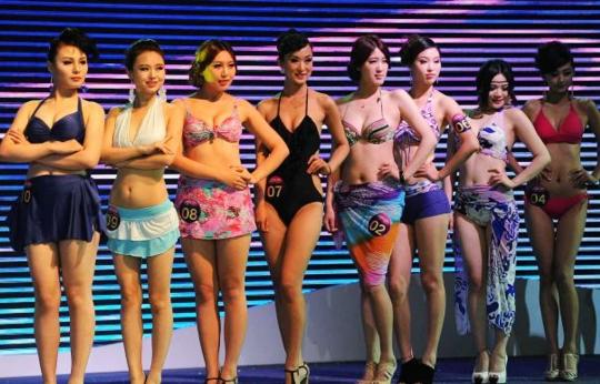 Foto kontes payudara terindah di dunia yang diselenggarakan di china