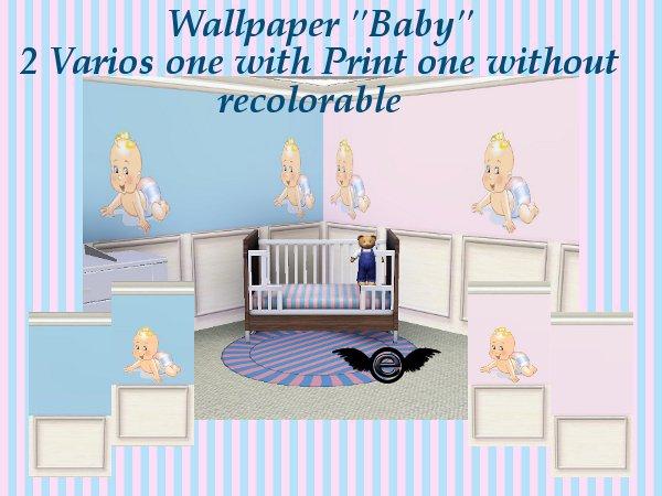 engelchen kinder tapeten set baby kids wallpaper set. Black Bedroom Furniture Sets. Home Design Ideas