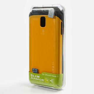 Slim Armor Case for Samsung Galaxy Note 3 N9000 N9002 N9005 - Yellow