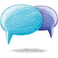 Blogger Comment Bubble Logo icon