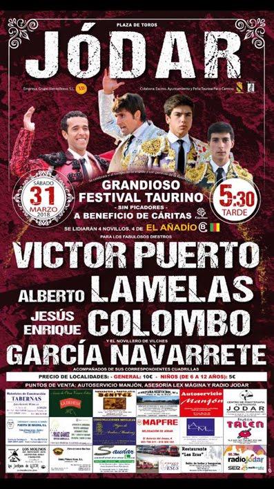 JÓDAR (ESPAÑA) 31-03-2018.GRANDIOSO FESTIVAL TAURINO PARA CÁRITAS.