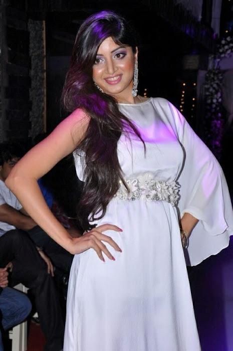 poonam kaur rwalk in white dress at sheesha sky launch cute stills