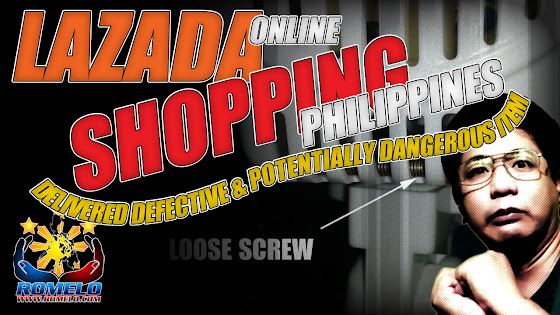 Lazada Online Shopping Philippines ★ Delivered Defective & Potentially Dangerous Item