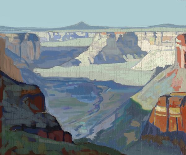 "Edgar Payne Digital Painting Study of ""Cole Canyon (Arizona)"" by Mary Highstreet"