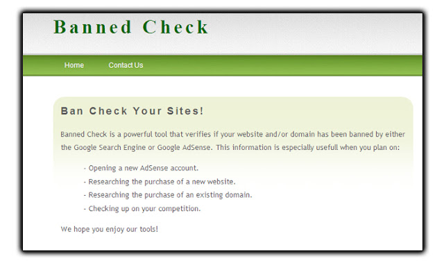 banned check google adsense