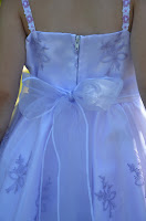 Satin Dress with Embroidered Organza 4