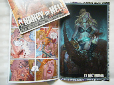 Número 3 del comic Nancy in Hell on the Earth donde aparece publicada la ilustración or fanart by ªRU-MOR