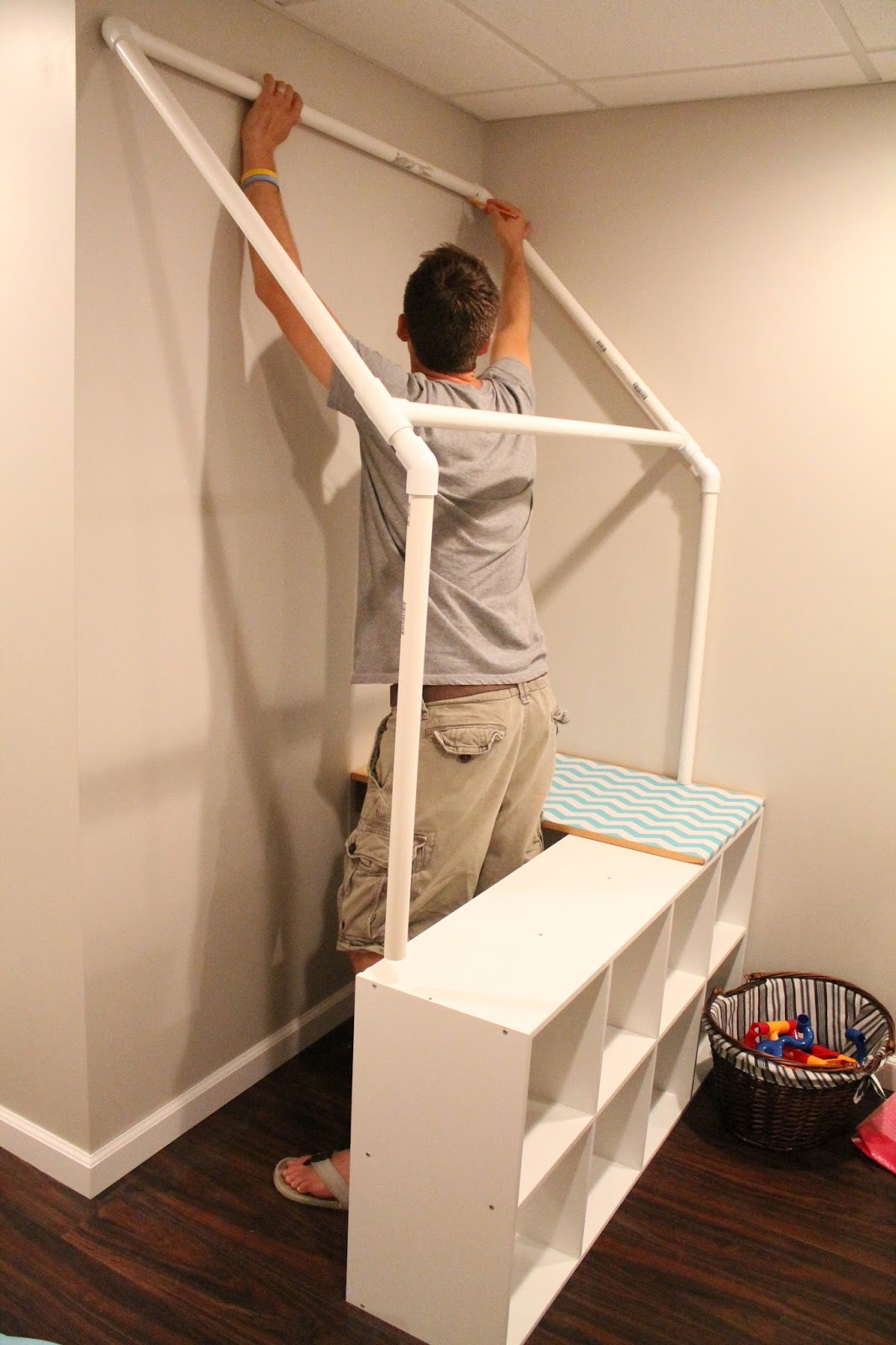 Pvc Pipe Bookshelf Diy Pvc Childrens Grocery Store Tutorial So You Think Youre