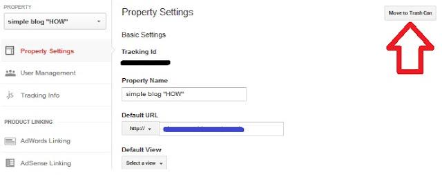 Cara Menghapus Property Blog dari Google Analytics