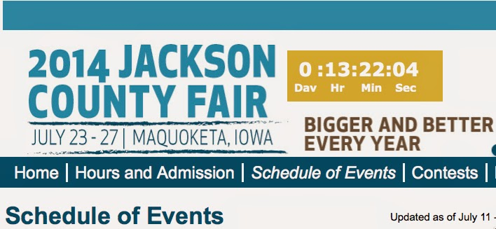 http://www.jacksoncountyiowafair.com/Schedule-of-Events.html