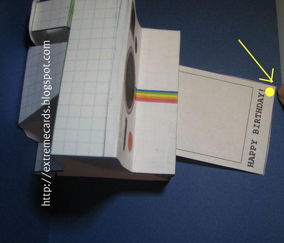 Polaroid Camera Pop Up Card Tutorial