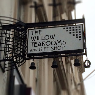 Sign at Willow Tea Rooms Glasgow