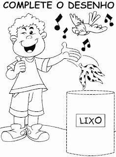 atividades de educação infantil - coordenação motora - Complete o desenho 2