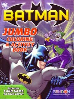 Front of the Batman jumbo coloring and activity book featuring the Joker