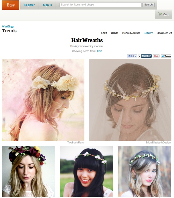 Twobackflats vintage lace hair wreath for A second glance salon
