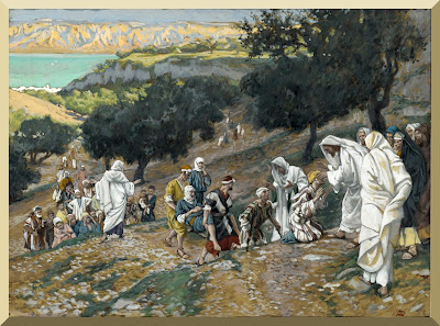 """Jesus Heals the Blind and Lame on the Mountain"" -- byJames Tissot"