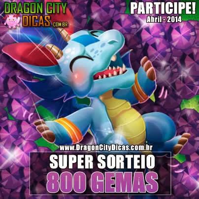 Super Sorteio - Concorra à 800 Gemas - Abril