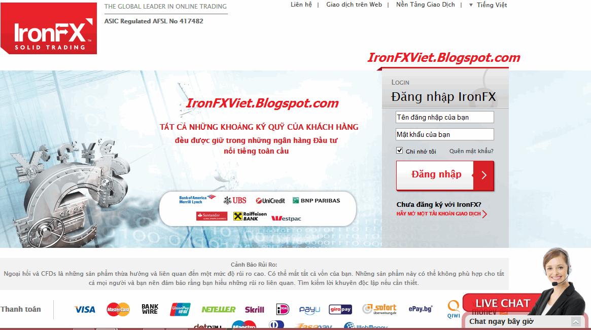 Cổng thông tin khách hàng IronFX