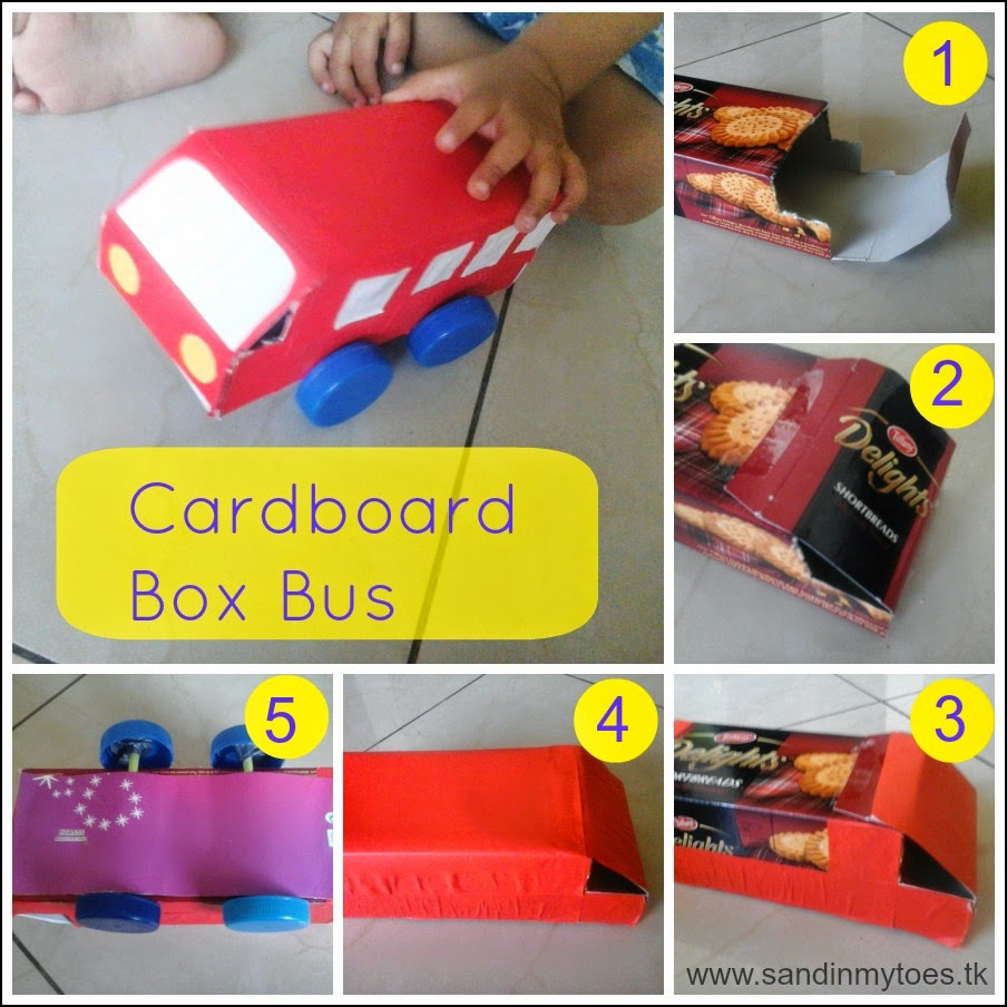How to make a cardboard box bus