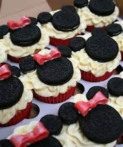 Mickey or Minnie Mouse Cupcakes with Oreos Edible Art.