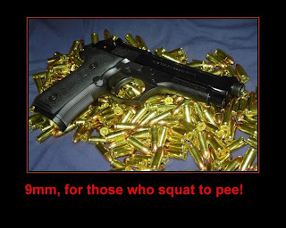 funny weapons fail picture womans handgun