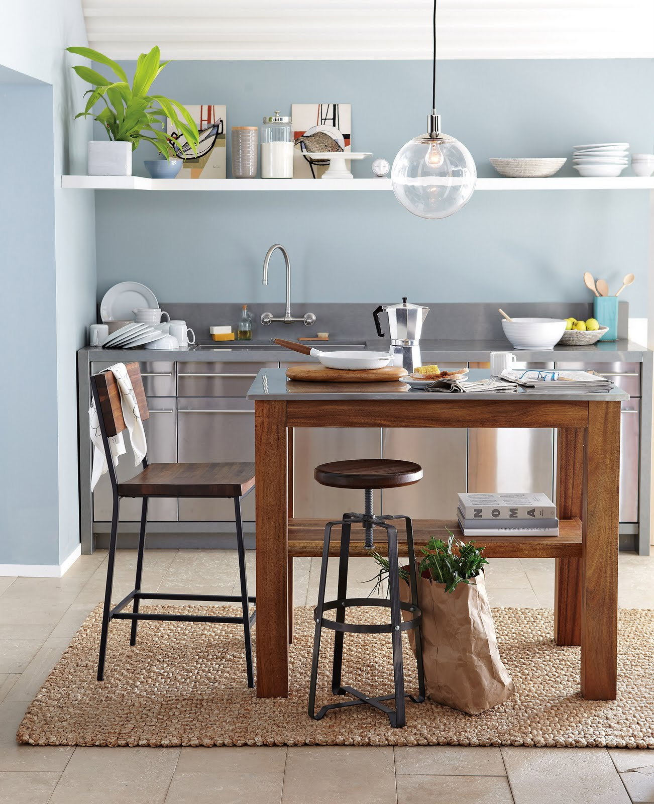 Live Creating Yourself West Elms Summer Kitchen - West elm kitchen island