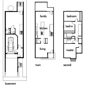 Narrow House Plans House Affair