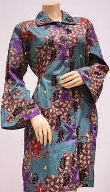 baju batik pesta wanita modern