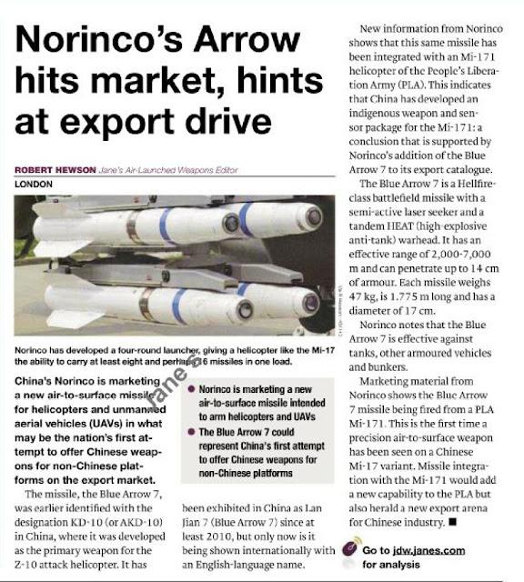 Norinco's Arrow Missile