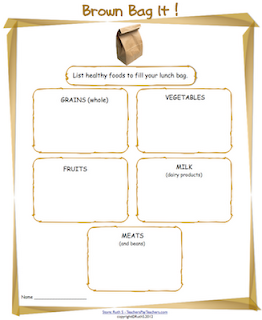 photo Brown Bag It Free Pdf, dairy products, fruits, grains, healthy foods, meats, nutrition, vegetables,