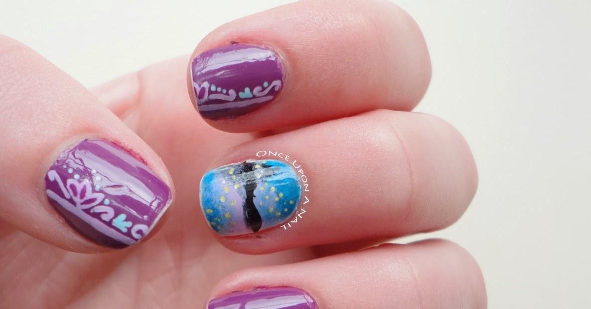 Once upon a nail disney princess challenge 5 rapunzel for Admiral nail salon