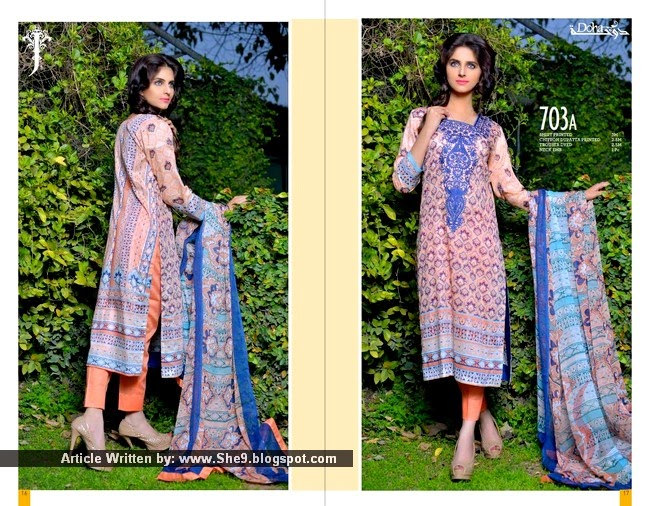 Jubilee Doha Kurti Lawn Collection 2015 Volume 1 Magazine / Catalog