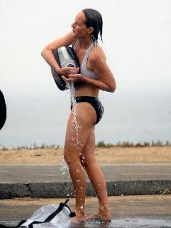 Helen Hunt white bikini Malibu