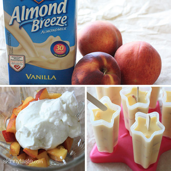 Peaches and Cream Popsicles | Skinnytaste