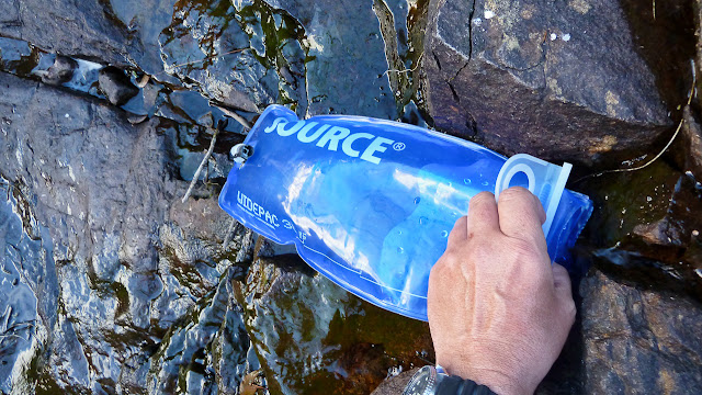 filling three litre source widepac hydration bladder