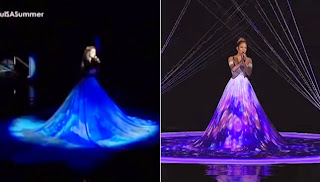Megan Young's 3D Gown compared to J.Lo's