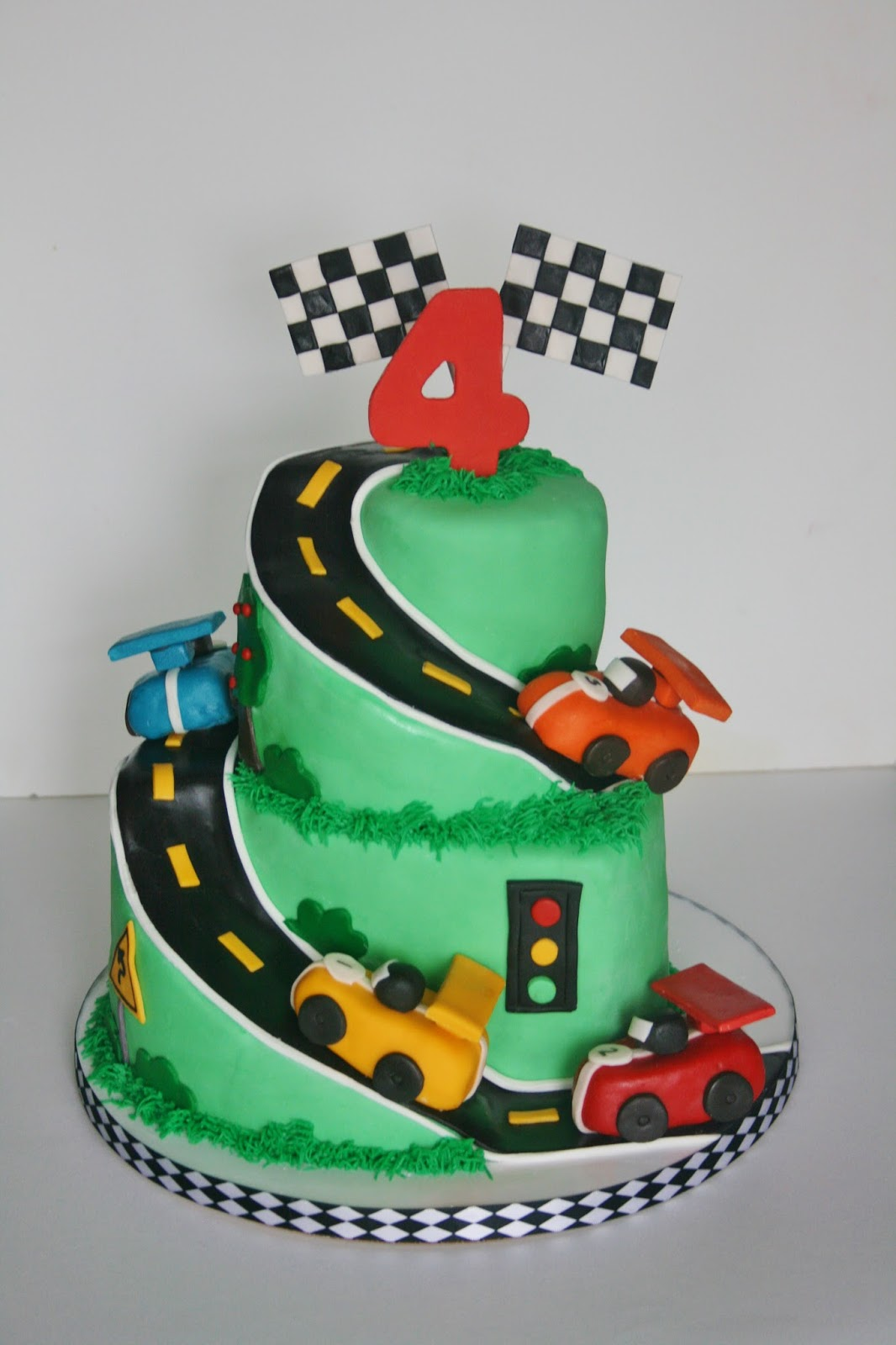 Birthday Cake Images With Car : And Everything Sweet: Race Car Cake!!