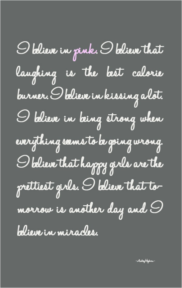 quote I believe Audrey Hepburn