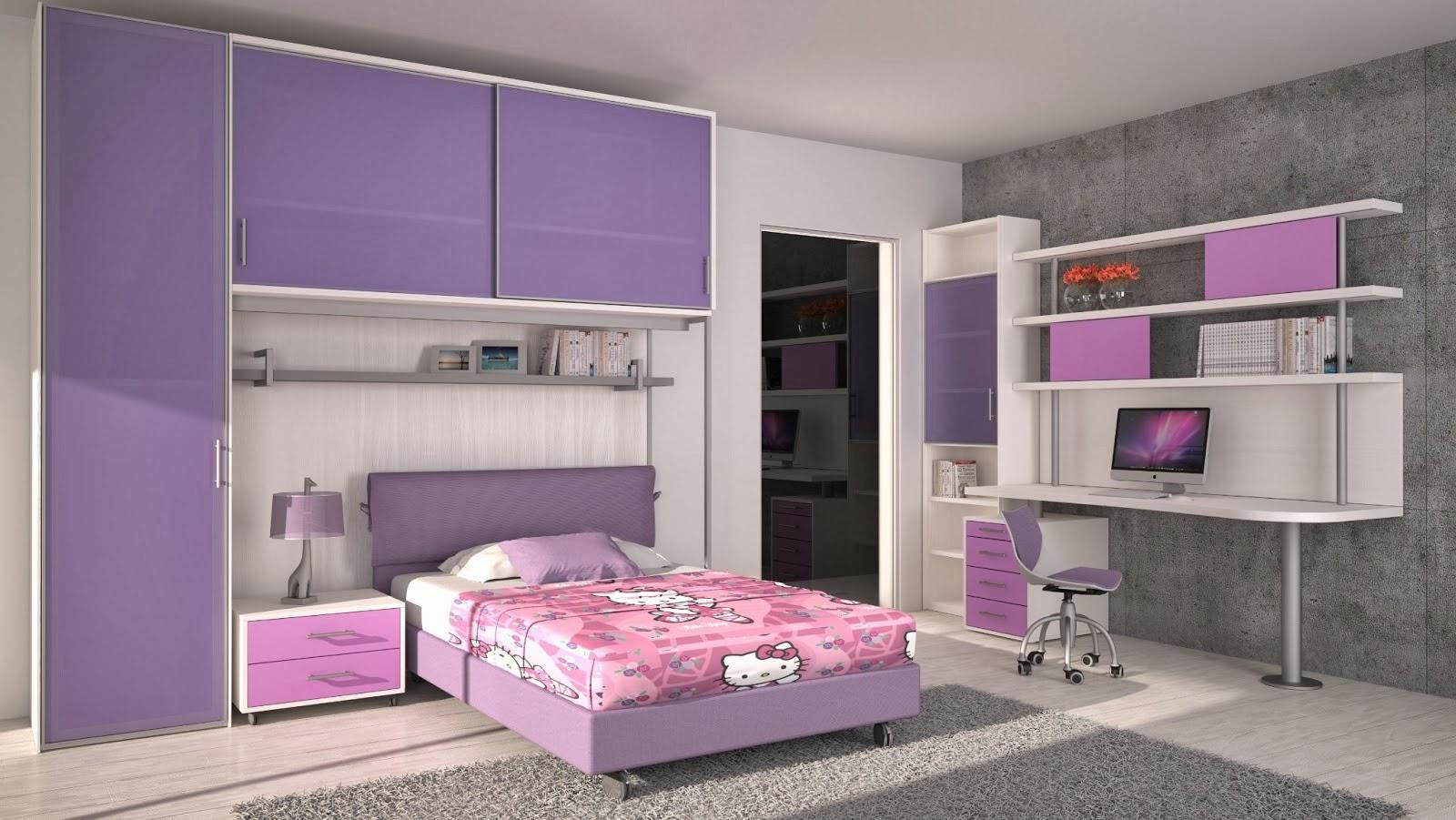 Cuarto de ni a en rosa y lila dormitorios colores y estilos for Dormitorios para 4 ninas