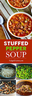 Stuffed Pepper Soup [KalynsKitchen.com]