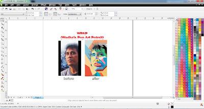 cara membuat wedha's pop art potrait / WPAP dengan menggunakan corel