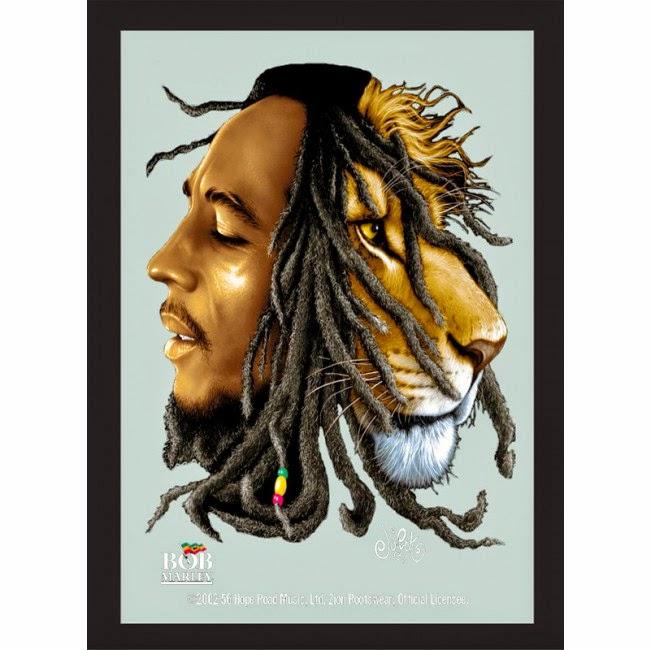 Espejo Bob Marley Lion