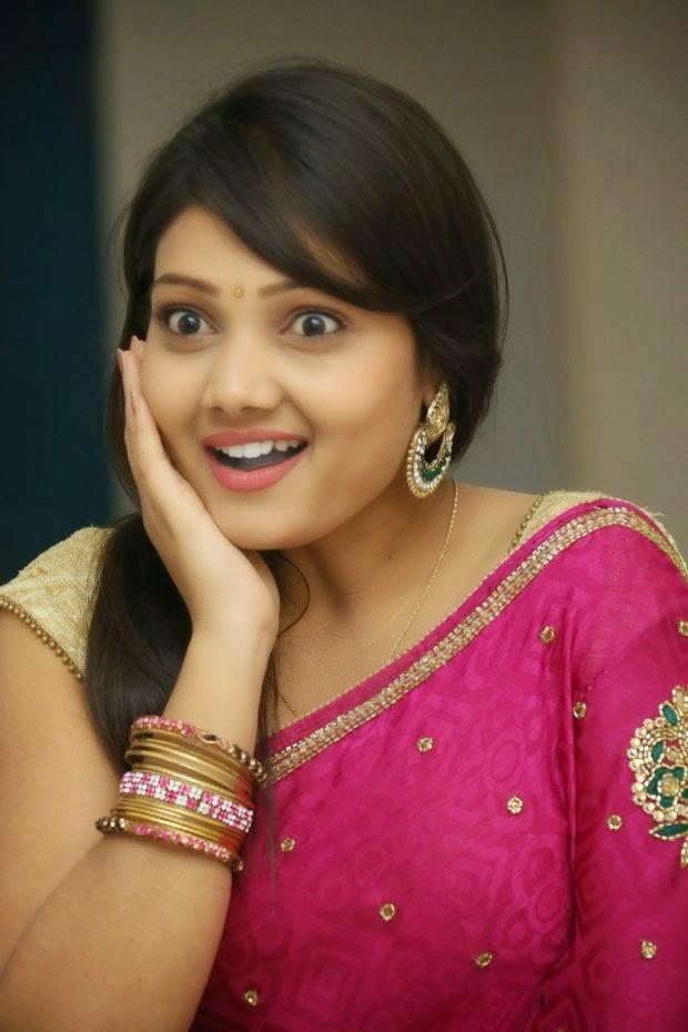 Telugu tv actress priyanka in pink saree bollywood stars - Telugu hd wallpaper ...
