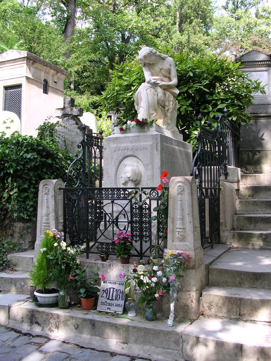 Chopin's gravesite at Père Lachaise, Paris - Auguste Clésinger