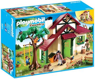 TOYS : JUGUETES - PLAYMOBIL Country  6811 Casa del Guarda Forestal | Guardabosque  Producto Oficial 2016 | Piezas: 107 | Edad: 4-10 años  Comprar en Amazon España