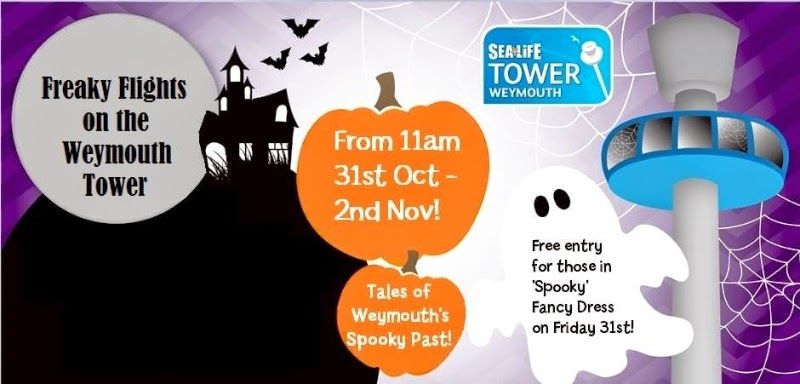 Freaky Flights on Weymouth Tower Halloween 31st Oct 1st 2nd Nov 2014