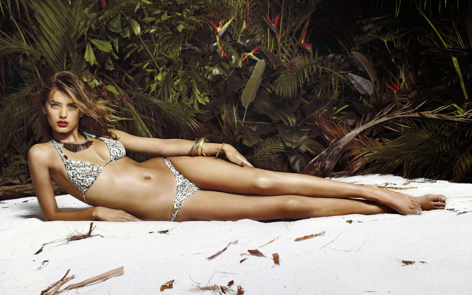 Faye reagan green bikini
