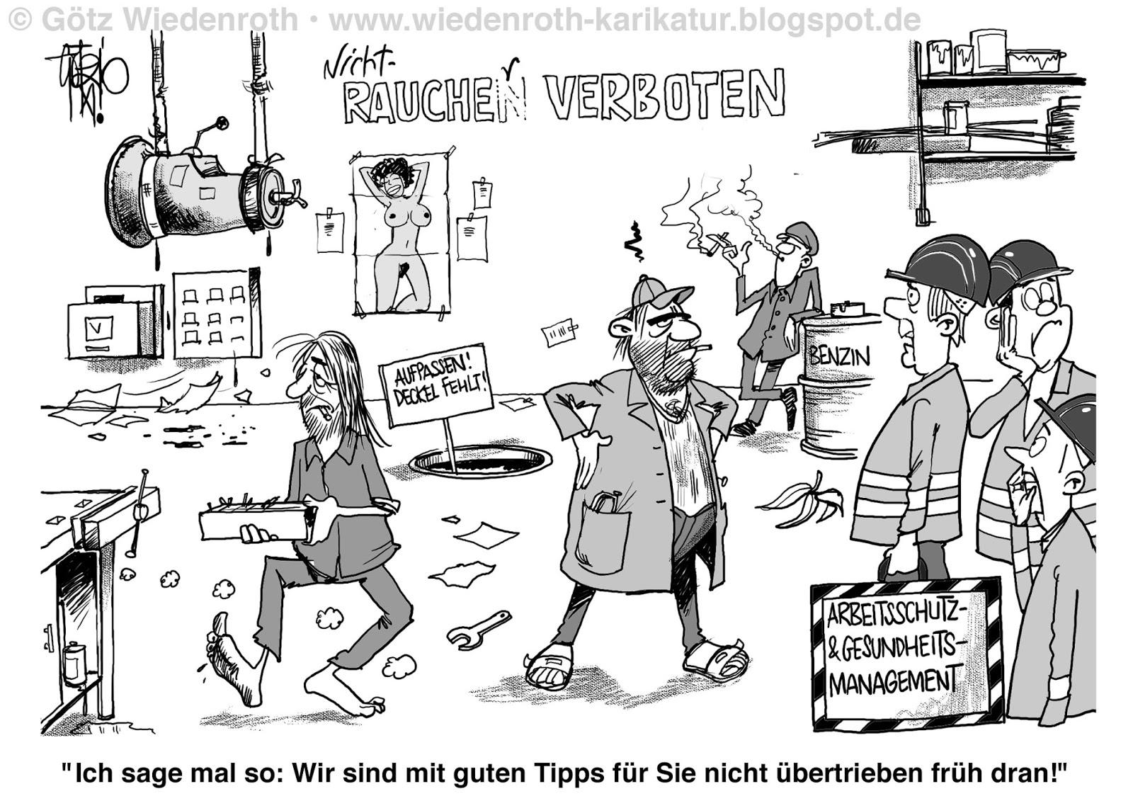 Karikamur karikatur wiedenroth arbeitsschutz for Zitat sicherheit
